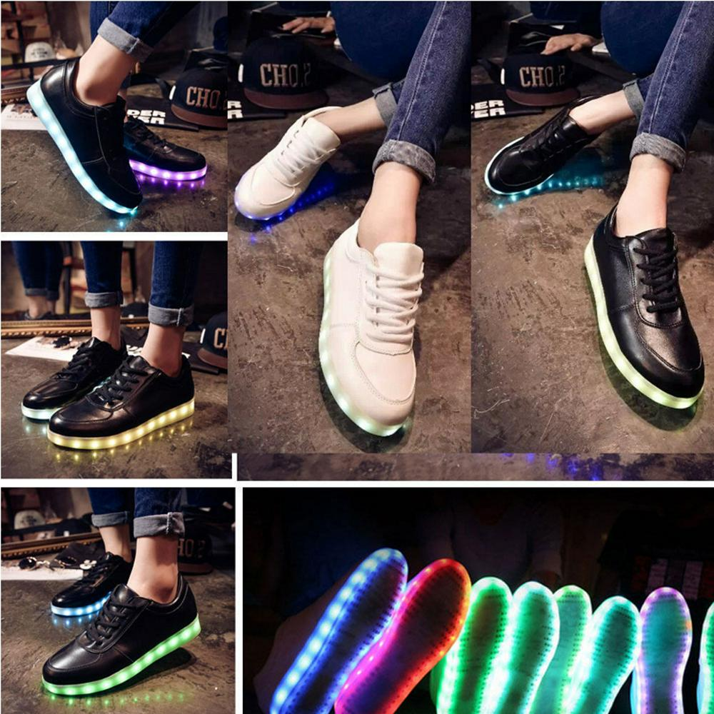 ... Leuchtende LED Schuhe Farbwechsel Sneaker Shoes Wei