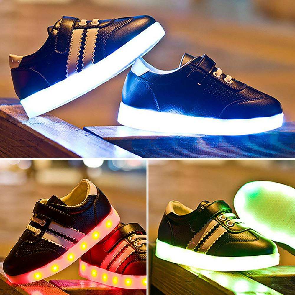 kinder kids led schuhe licht leuchtend sneaker blinkschuhe sports shoes 2016 new ebay. Black Bedroom Furniture Sets. Home Design Ideas