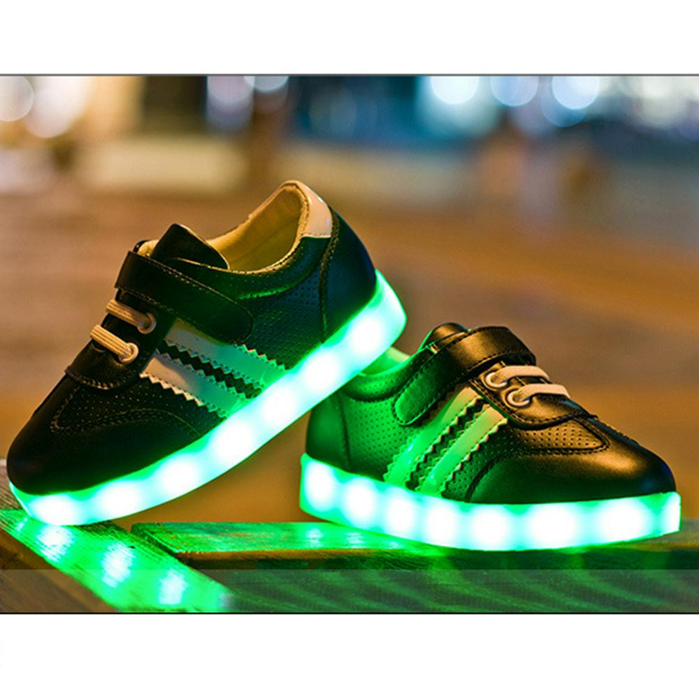 kinder junge m dchen schuh sneakers led light farbwechsel schuhe led licht 2016 ebay. Black Bedroom Furniture Sets. Home Design Ideas