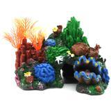 Fish-Tank-Ornament-Coral-Reef-Wreck-Boat-Castle-Bridge-Barrel-Aquarium-Decor