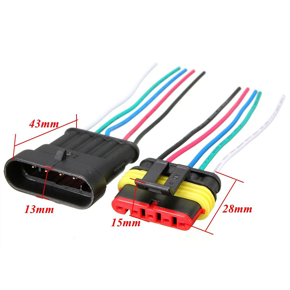 Car Electrical Cable Connector Plug With Wire 1/2/3/4/5/6 Pin Way ...