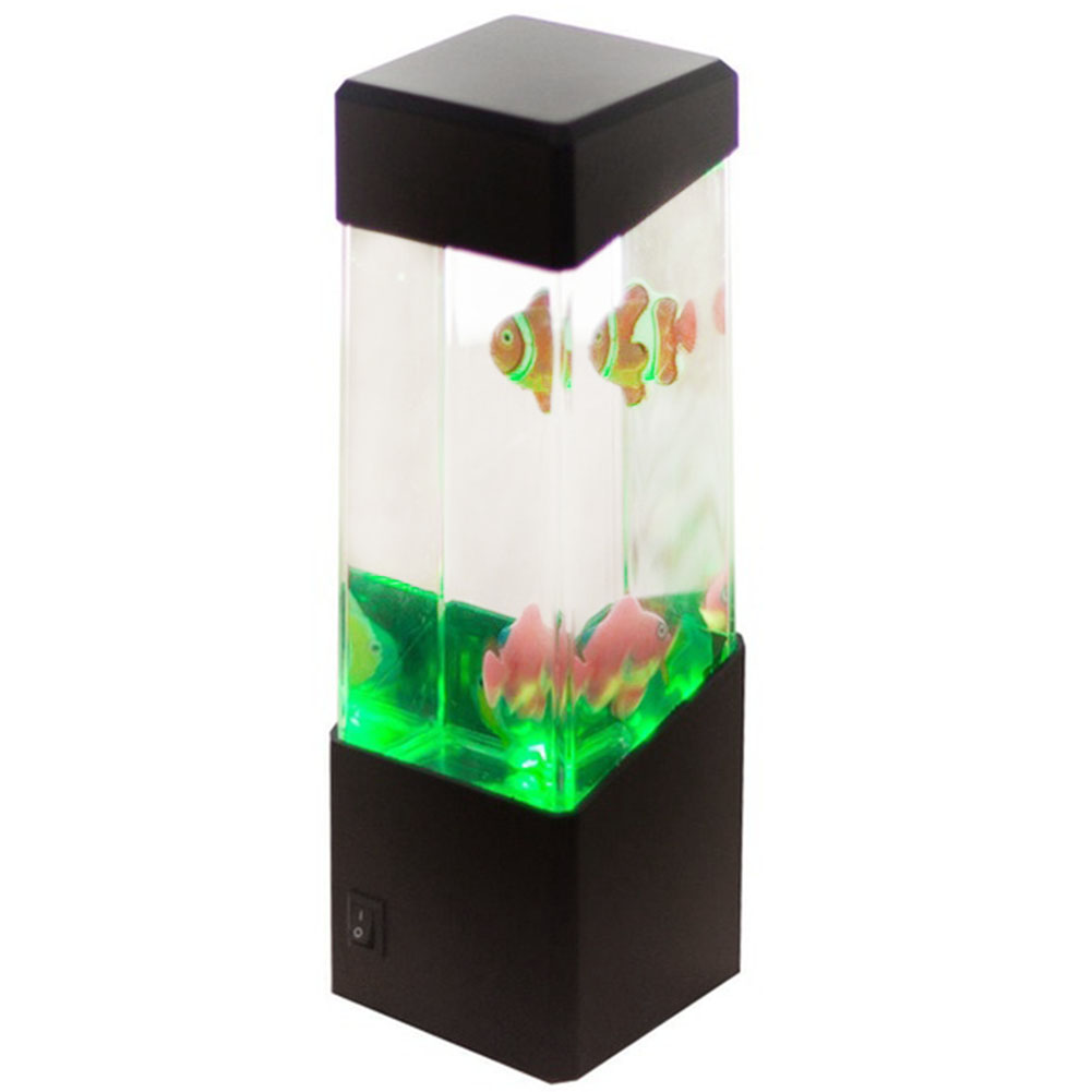 Neu mini aquarium led gl hend batteriebetrieben wohnkultur for Aquarium versand