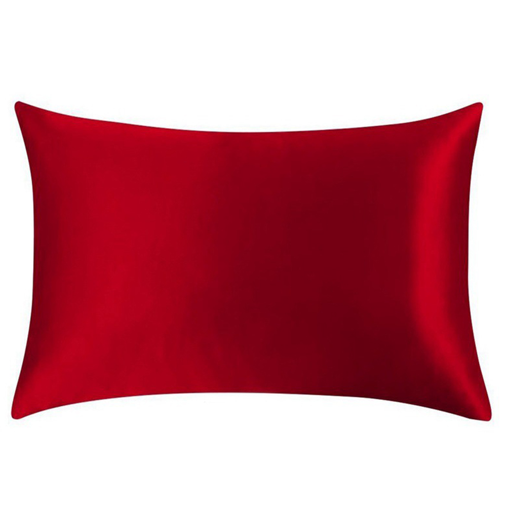 100 pure mulberry silk pillow cases cushion covers zipper closure queen size ebay. Black Bedroom Furniture Sets. Home Design Ideas